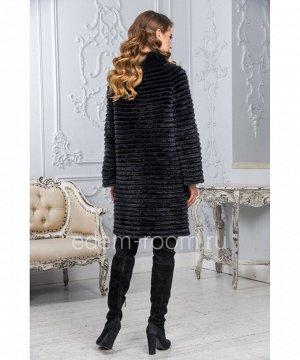 Демисезонное пальто из норки и кроликаАртикул: M-17014-90-KR-CH