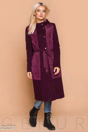 Удлиненное демисезонное пальто
