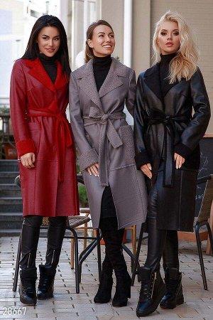 Легкое дубленое пальто