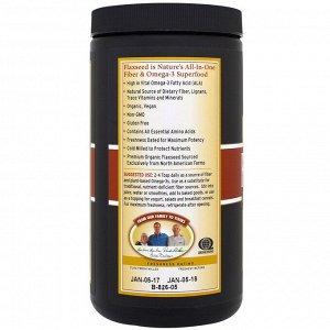 Barlean&#x27 - s, Органический Forti-Flax, молотое льняное семя высшего качества, 16 унций (454 г)