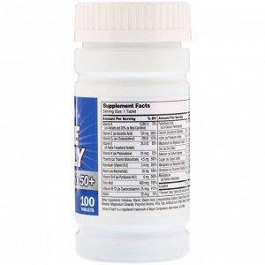 21st Century, One Daily, для мужчин старше 50, мультивитамины и мультиминералы, 100 таблеток
