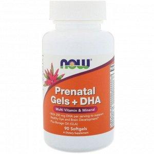 Now Foods, Желатиновые капсулы с ДГК для беременных, 90 мягких желатиновых капсул