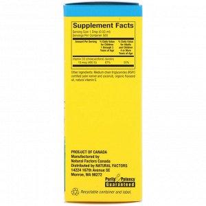 Natural Factors, Big Friends, Liquid Vitamin D3, 10 mcg 400 IU, 0.5 fl oz (15 ml)