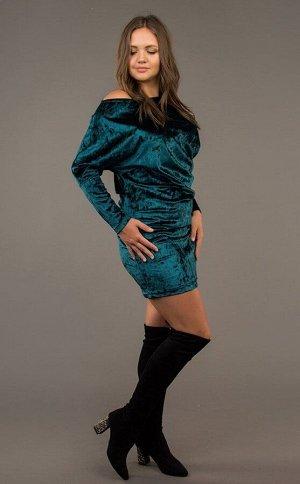 Платье. Цвет:зеленый