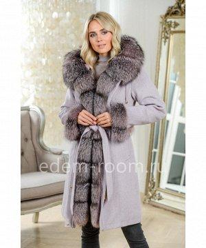 Зимнее пальто - парка с капюшоном из меха чернобуркиАртикул: DJ-5681-95-P-L