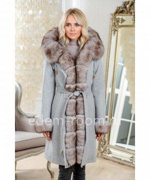 Женская парка - пальто с мехомАртикул: DJ-5681-95-SR-P