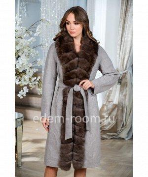 Шерстяное пальто утепеленноеАртикул: TG-2311-110-SR-P