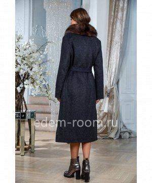 Удлинённое теплое пальто с мехомАртикул: TG-2310-115-GR-P