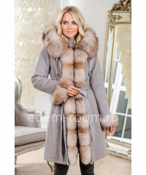 Теплая парка - пальто с натуральным мехомАртикул: DJ-5681-95-S-P