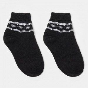Носки женские махровые «Снежинки», цвет чёрный, размер 23-25 (36-38)