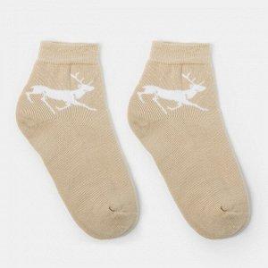 Носки женские махровые, цвет бежевый, р-р 23-25 (36-38)