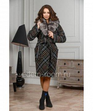 Зимнее пальто в клеткуАртикул: 120-100-KKLM-P
