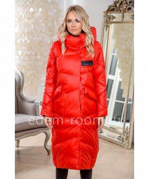 Красное пуховое пальтоАртикул: 9112-2-115-R