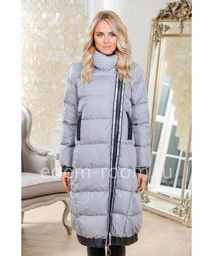 Удлинённое пуховое пальтоАртикул: 160-2-105-SR