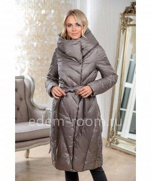 Пуховое пальто цвета капучиноАртикул: 1945-2-105-BG