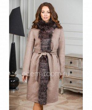 Теплое пальто с мехом лисыАртикул: G-2308-105-KR-CH