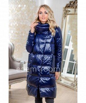 Синий недорогое пальто на пухуАртикул: 18582-105-SN