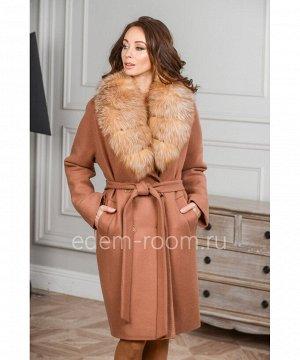 Женское зимнее пальто с мехом лисыАртикул: AR-1868-95-P-L