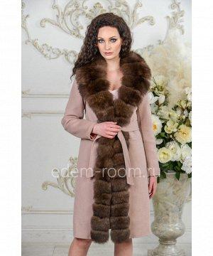 Кашемировое зимнее пальто с мехомАртикул: V-18271-100-2-P-P