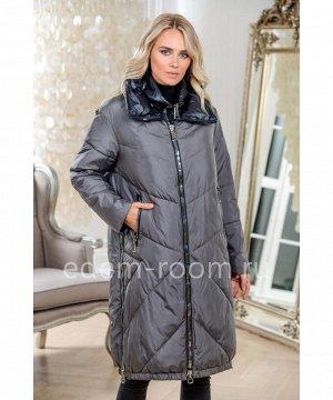 Пуховое пальто на молнииАртикул: 9855-2-105-SR