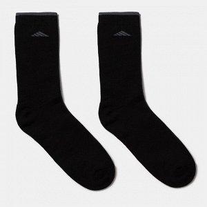 Носки мужские махровые QUARTET, цвет чёрный, размер 25-27