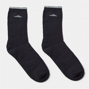 Носки мужские махровые QUARTET, цвет тёмно-серый, размер 25-27