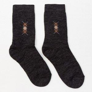 Носки мужские махровые, цвет асфальт, размер 29