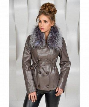 Осенняя куртка с мехом чернобуркиАртикул: OL-2090-SE