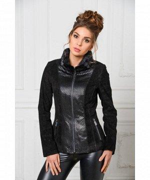 Куртка из натуральной замши с мехомАртикул: S-1519