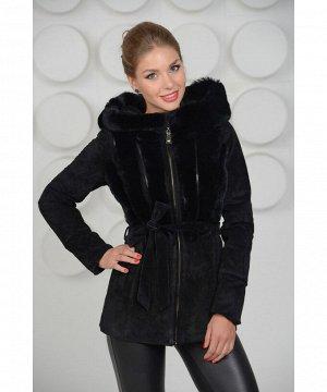 Красивая демисезонная куртка из натуральной замшиАртикул: 15D-036