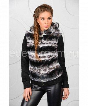Куртка из замши комбинированная с мехом кроликаАртикул: S-13T-032-R