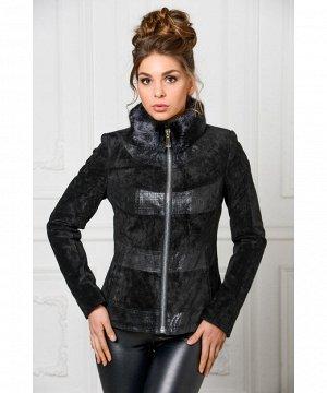 Укороченная демисезонная куртка из замшиАртикул: S-2078