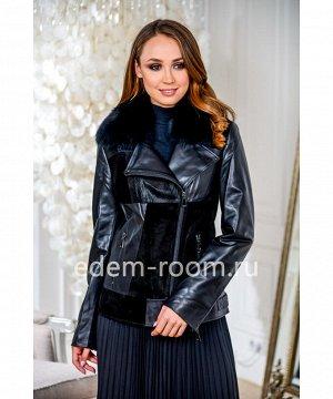 Демисезонные куртки из кожиАртикул: S-7903-60-P