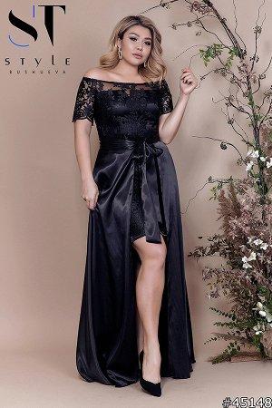 Платье со съемной юбкой 45148