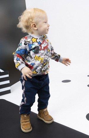 Брюки детские текстильные джинсовые для мальчиков