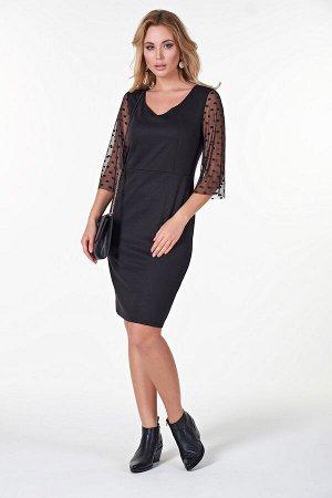 Платье Тейлор №2.Цвет:черный/горох