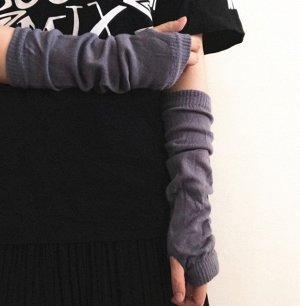 серые митенки-рукава