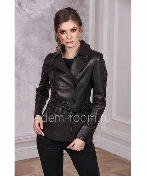 Кожаная куртка с поясомАртикул: DJ-1802-CH