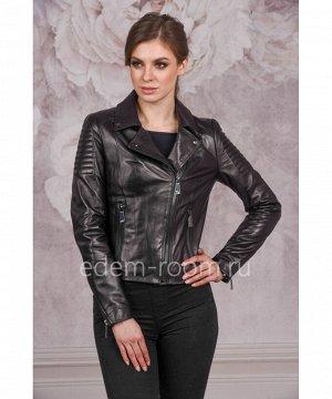 Кожаная куртка -косухаАртикул: F-17001-CH