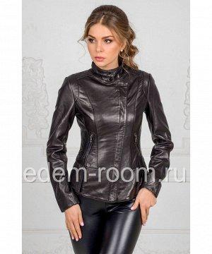 Комфортная куртка из кожиАртикул: LN-3706-CH
