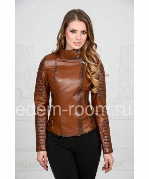 Коричневая кожаная курткаАртикул: T-I-005-K