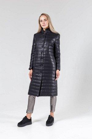 Пальто Пальто GlasiO 15028  Рост: 164 см.  Пальто прямого кроя из плащевой ткани с подкладкой на синтепоне 100г/м2. По переду нагрудная вытачка, в боковом шве потайной карман. Воротник-стойка. Рукав