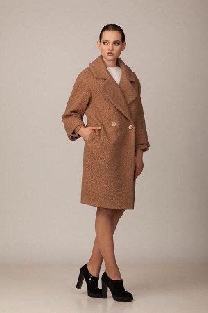 Пальто Пальто Rosheli 710 капучино  Состав ткани: ПЭ-30%; Шерсть-20%; ПАН-50%;  Рост: 164 см.  Двухбортное пальто из мягкой пальтовой ткани на подкладке. Объемность, крупные детали, мягкость и неповт