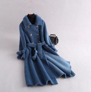Пальто L(длина 100,бюст 110,длина рукава 59) пальто с браком. Пол кармана к шубке не пришито.старая цена 3588
