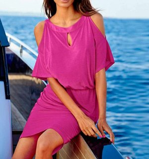 Пляжное платье, розовое