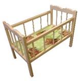 Кровать  для кукол деревянная большая (кровать-качалка) КРБ 2695
