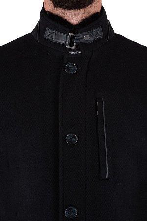 Пальто Сезон:демисезонные Посадка:полуприталенная Модель:М12 Цвет:чёрный Фактура:узор Комплектация:пальто, вешалка Состав:шерсть-75%, вискоза-15%, полиэстер-10%