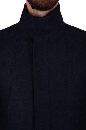 Пальто Сезон:демисезонные Модель:М13 Цвет:синий Фактура:узор Состав:шерсть-75%, вискоза-15%, полиэстер-10%