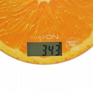 """Весы кухонные LuazON LVK-701 """"Апельсин"""", электронные, до 7 кг"""