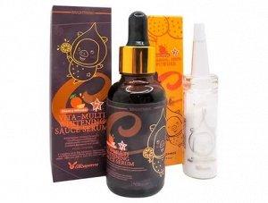 KR/ Elizavecca Vitamin C 100% Powder + Vita-Multi Whitening Sauce Serum Набор Пудра с витамином С и Сыворотка для лица, 12+50мл